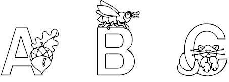 abc coloring page 2 - Coloring Pages Of Alphabet