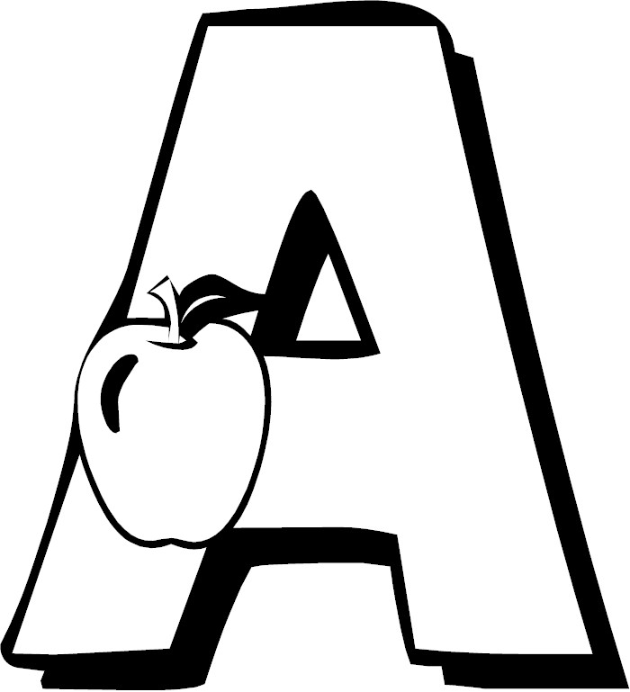 Letter A Coloring Page Coloring Pages Of The Letter A