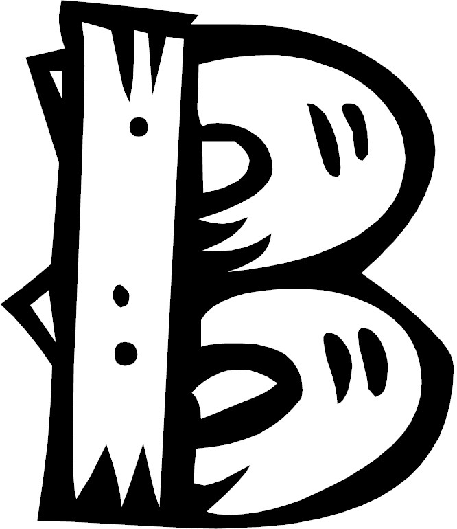 Galerry alphabet b coloring pages