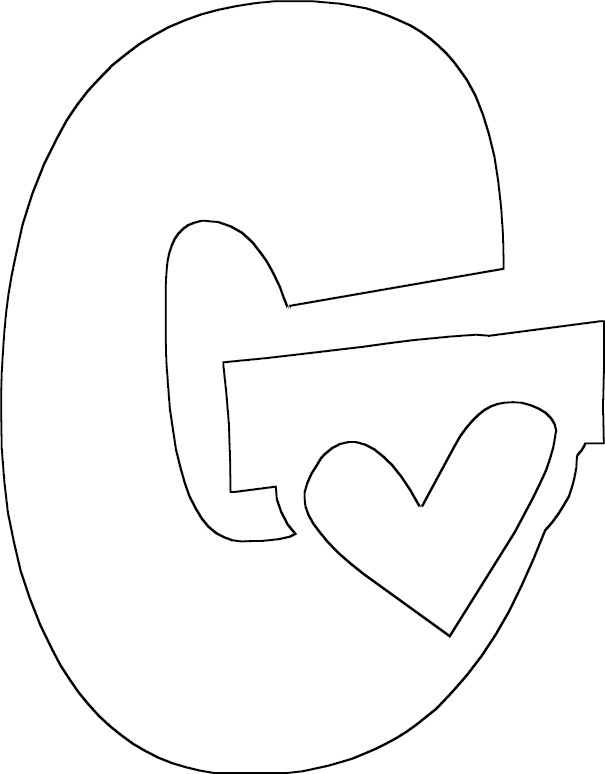 g coloring pages - photo #10
