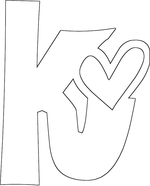 the letter k coloring pages - photo#6