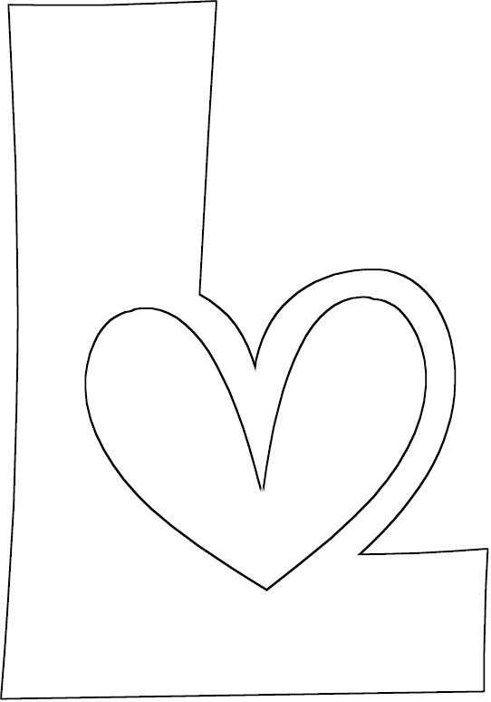 Block letter l coloring coloring pages for L coloring pages