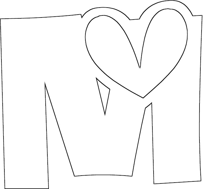 m coloring pages - photo #25