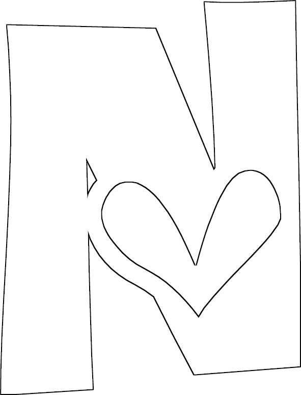 n coloring pages - photo #33