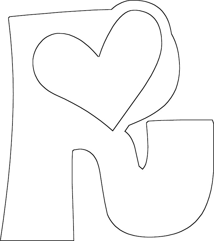 R Coloring Pages : Free coloring pages of fancy letter r