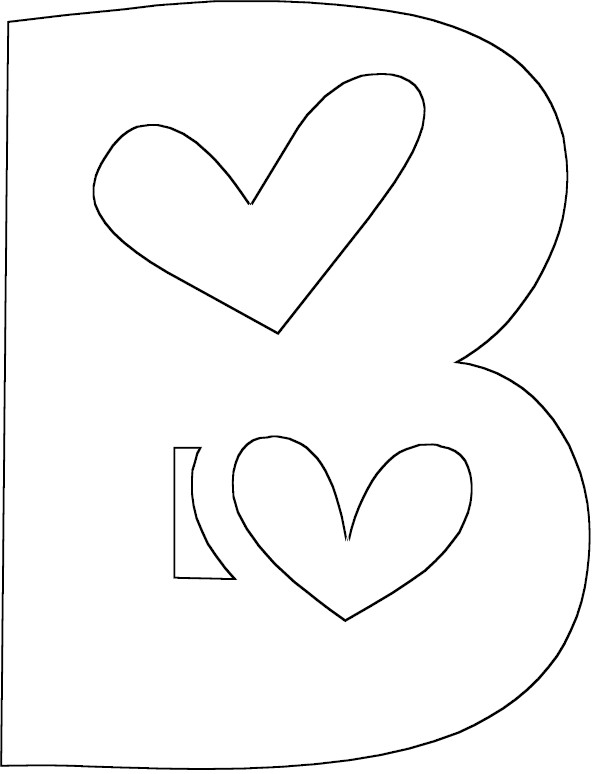 b words coloring pages - photo #18
