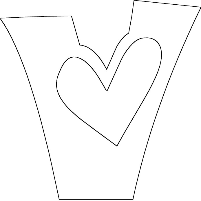 v letter coloring pages - photo #7