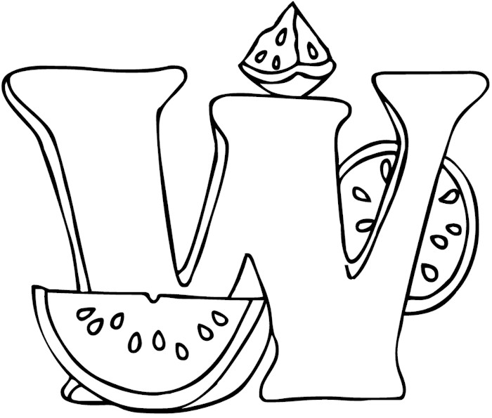 coloring pages w - photo#17