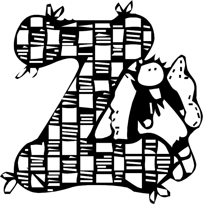 Free coloring pages of start with the letter z for The letter z coloring pages