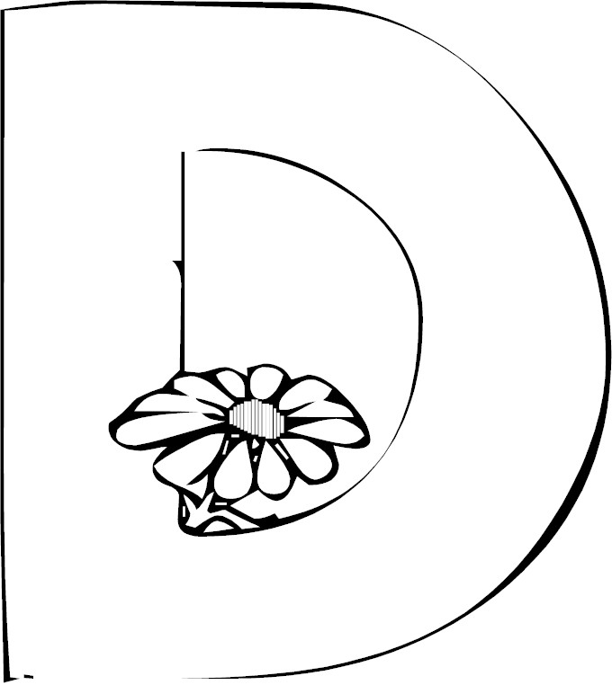d letter coloring pages - photo #44