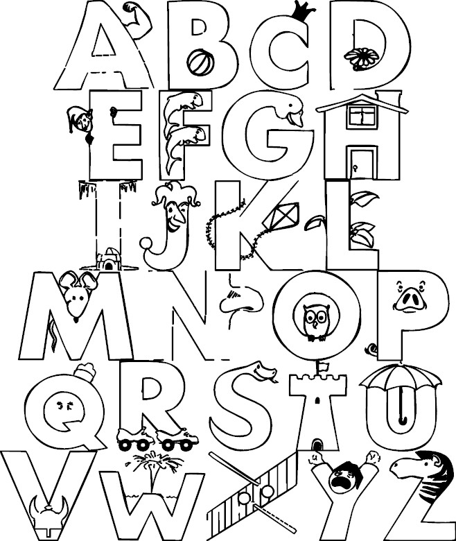 coloring pages the alphabet - photo #3