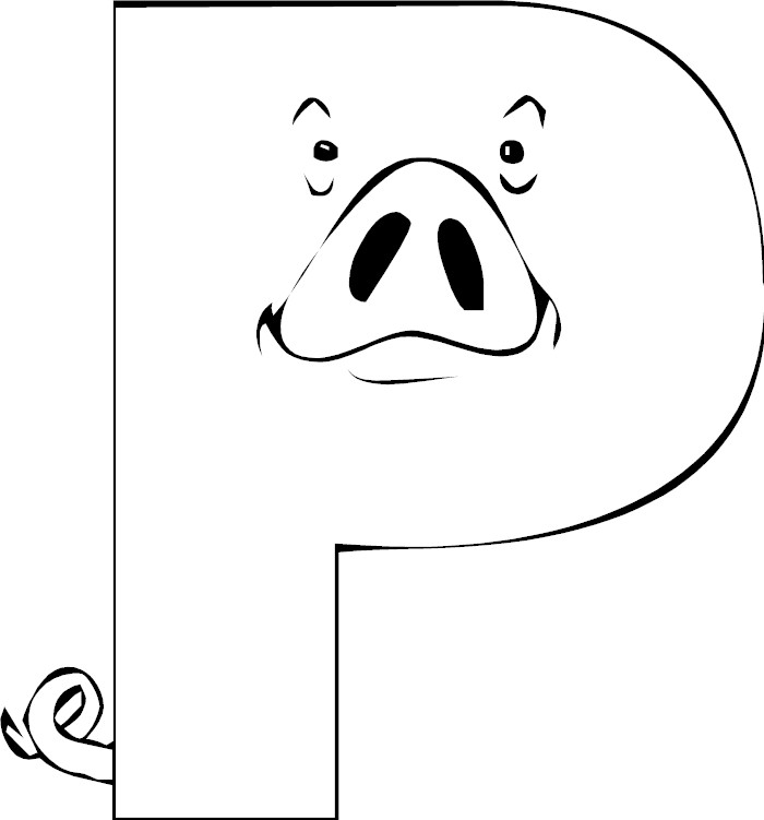 Letter p coloring page for Letter p coloring pages
