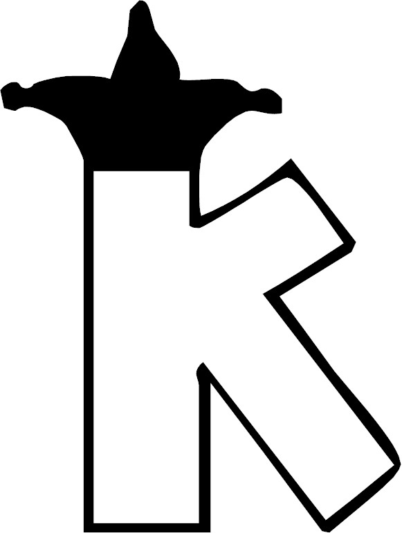 Free coloring pages of single letter k