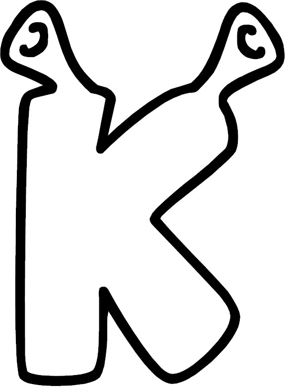Coloring page of the letter k for The letter k coloring pages