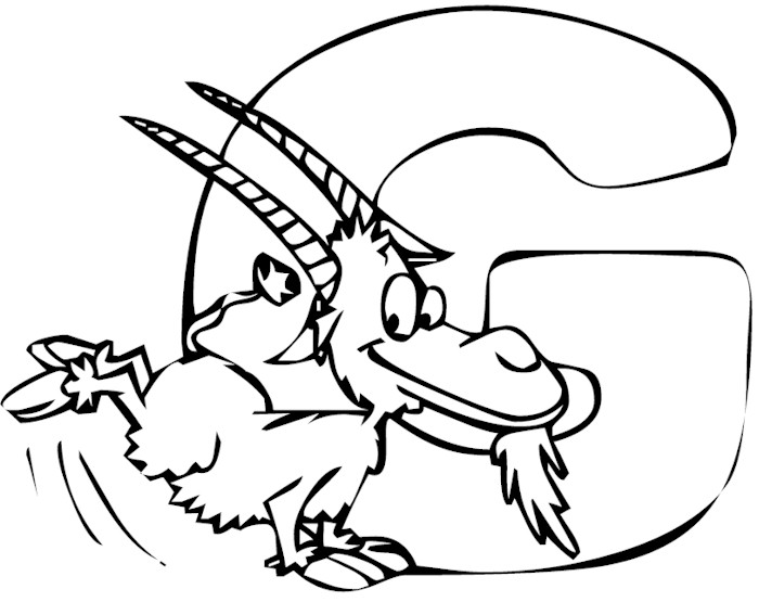 letter g coloring pages - photo#35