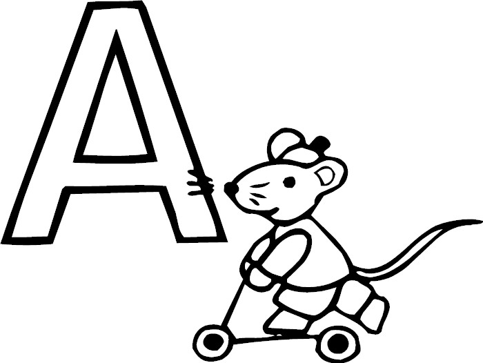 Galerry alphabet coloring page