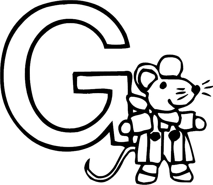 Free Coloring Pages Of Fancy Letter G