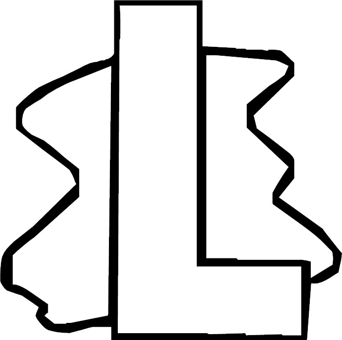 Free coloring pages of the letter l design