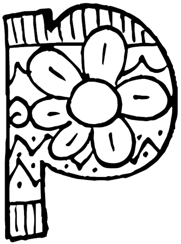 Related Pictures Letter P Coloring Page Letters