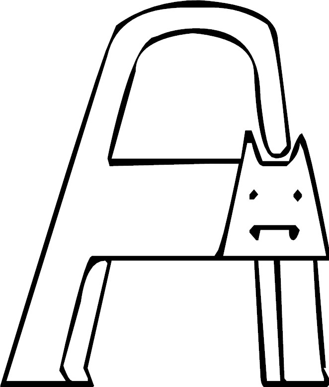 Letter A Coloring Page Animal Alphabet Letters Coloring Pages Coloring