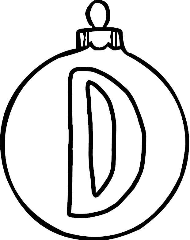 Free Coloring Pages Of Letter D Dots