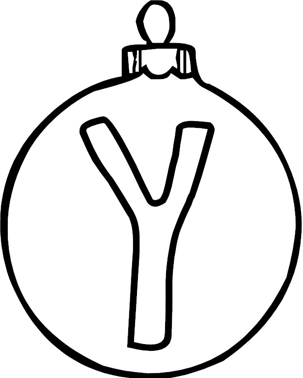 Letter Y Coloring Pages: Letter Y Coloring Page