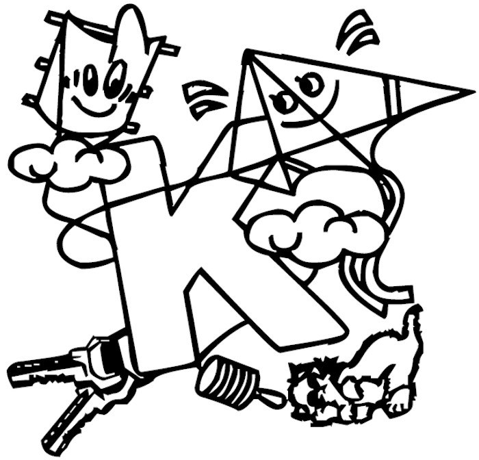 Letter K coloring pages  Free Coloring Pages