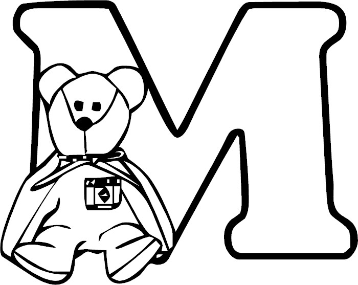 Free Coloring Pages Of The Letter M Design Letter M Colouring Pages