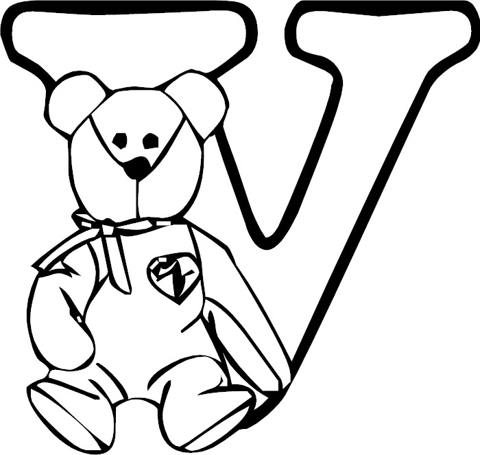 V Coloring Page Adult Coloring Pages L...