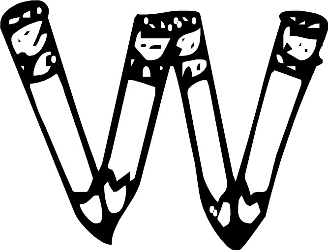 letter w coloring page letter w