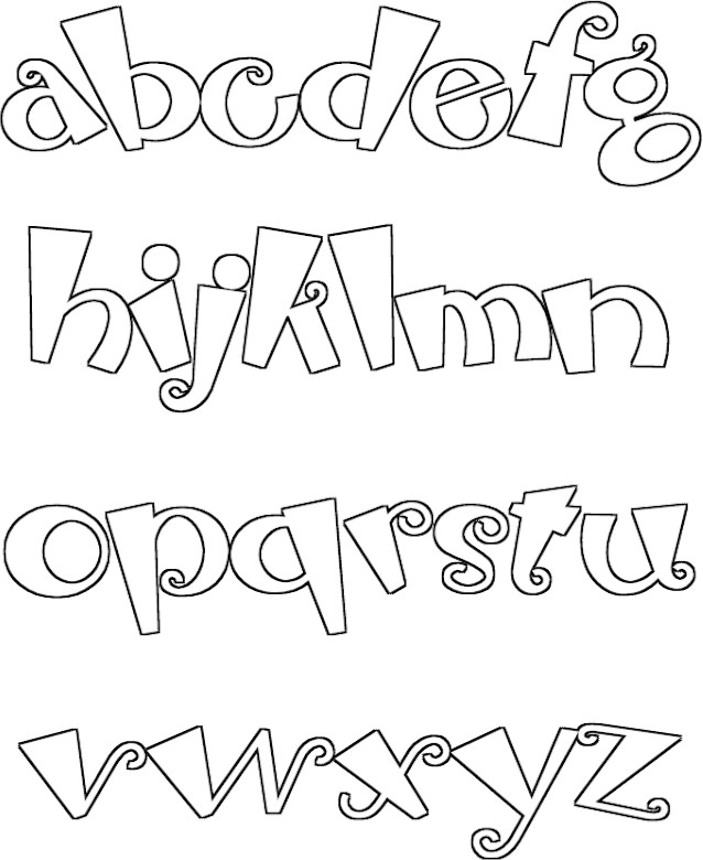 Halloween Alphabet Coloring Pages : Free halloween doodles