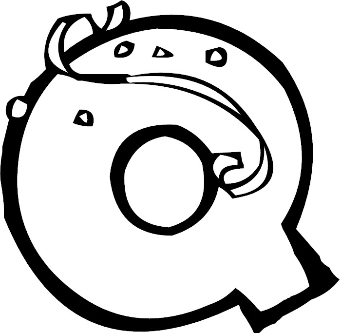 q letter coloring pages - photo #19