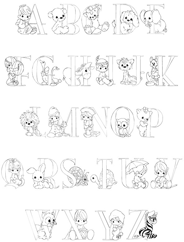 I Alphabet Coloring Pages Precious Moments. I. Best Free ...