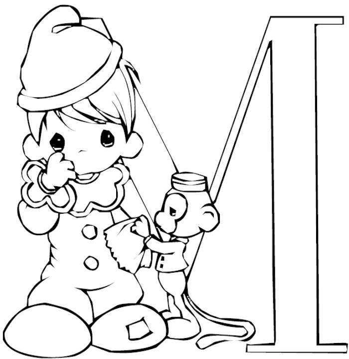 Letter M Coloring Page