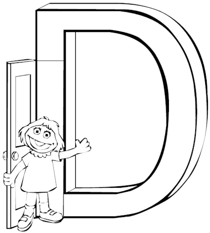 d letter coloring pages - photo #50