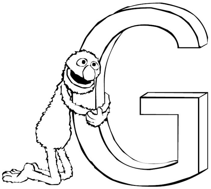 letter g coloring pages - photo#31