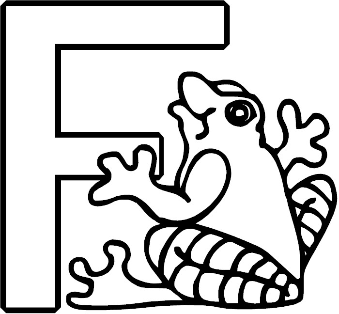 f letter coloring pages - photo #27