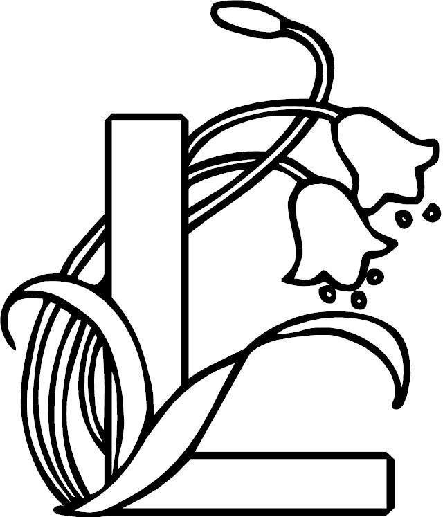 illuminated alphabet coloring pages free - photo#35
