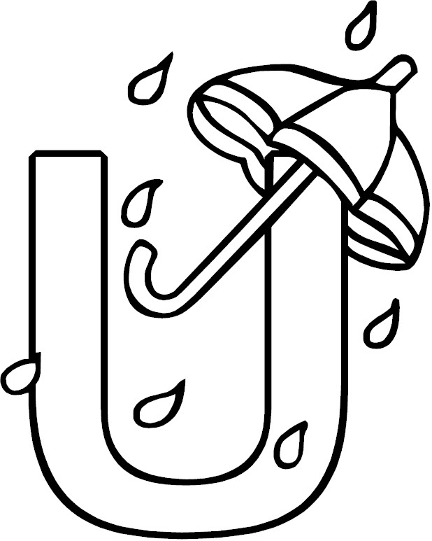 Letter u alphabet coloring page for Letter u coloring page