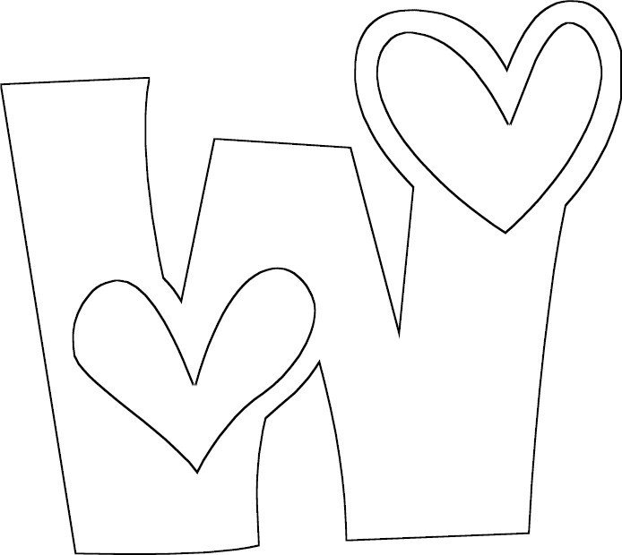 Full Letter W Coloring Page