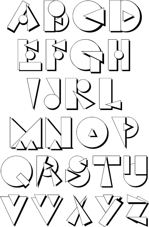 cool text fonts that you can copy and paste alphabet coloring pages 19988