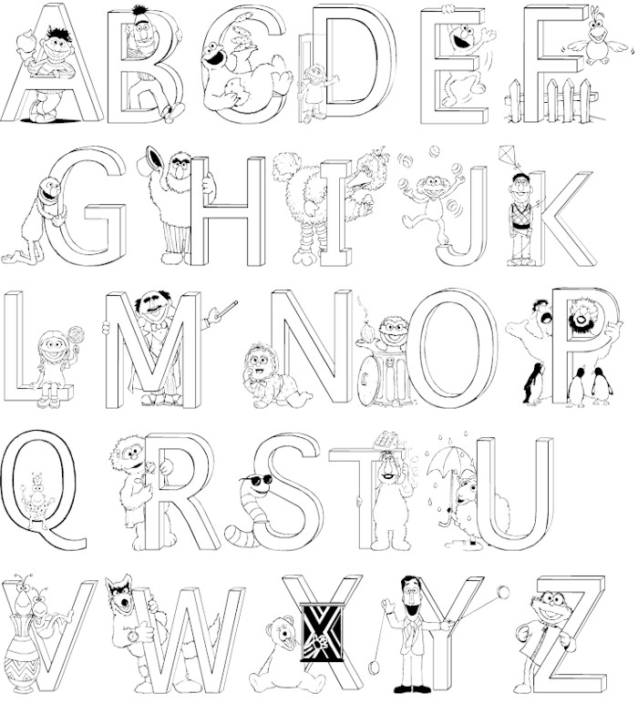 Colouring Sheets Letters Alphabet : Full Alphabet Coloring Pages Coloring Page